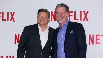 Netflix's top executives, Ted Sarandos and Reed Hastings.