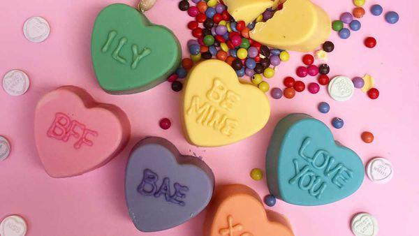 Valentine's Day mini smash cakes