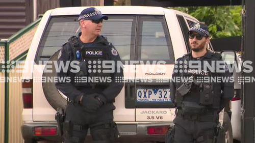 Two men have been arrested in an early morning raid at a home in Melbourne's south-east.