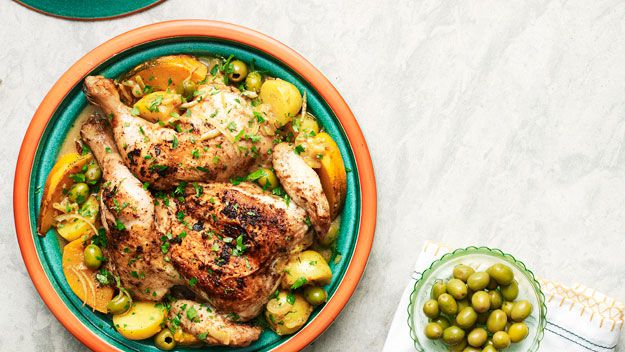 Chicken tagine with olives and lemon