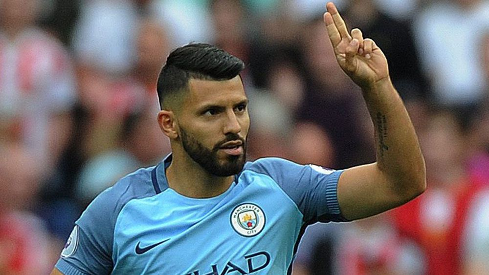 Sergio Aguero opened the scoring for City. (AAP)