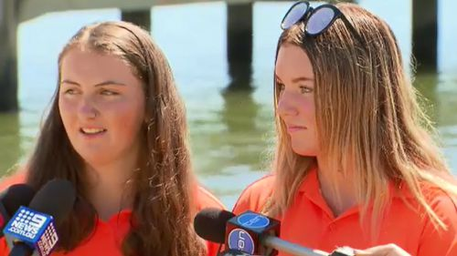 The pair of life-savers spoke to 9NEWS this afternoon. (9NEWS)