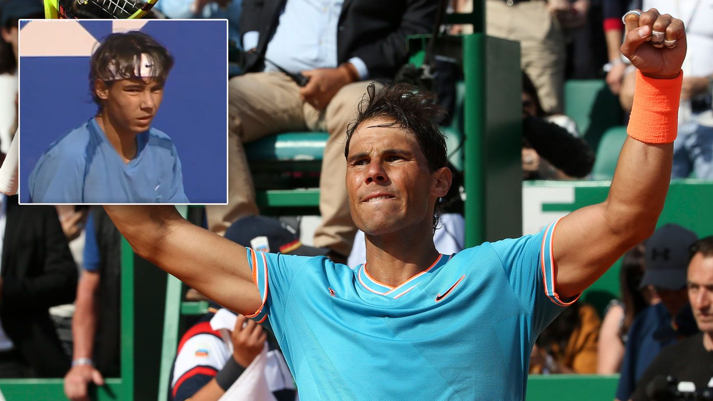 Nadal as a 16 year old and at 32 at Monte Carlo