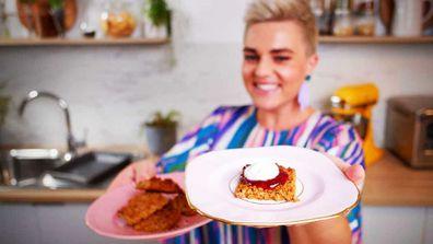 Jane de Graaff's three-ingredient flapjacks with coconut cream topping