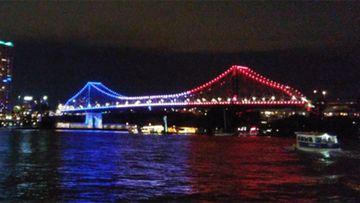 Brisbane's Story and Victoria bridges. (Ena Music, Twitter)