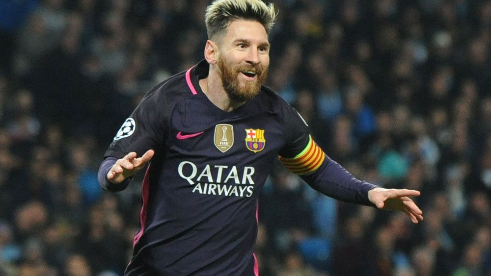 Lionel Messi could be earning $840,000 a week. (AAP)