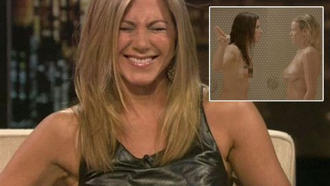 Watch: Chelsea Handler confronts Jennifer Aniston over visible nipples