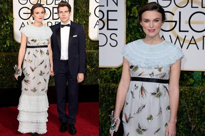Pregnant Keira is nominated for Best Supporting Actress in a Motion Picture for <i>The Imitation Game</i>.