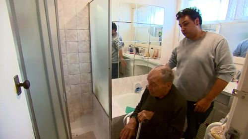 Anthony, his grandparents' full-time carer, said he had to wash his grandfather with a bucket.