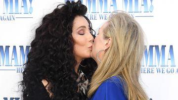 Meryl Streep and Cher kiss at 'Mamma Mia! Here We Go Again' premiere