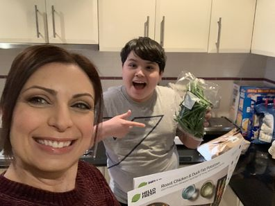 Jo Abi autistic son cooking learning to cook