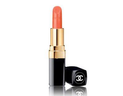 """<a href=""""http://shop.davidjones.com.au/djs/en/davidjones/rouge-coco-ultra-hydrating-lip-colour"""" target=""""_blank"""">Chanel Rouge Coco ULtra Hydrating Lip Colour in Sari Dore, $53</a>"""
