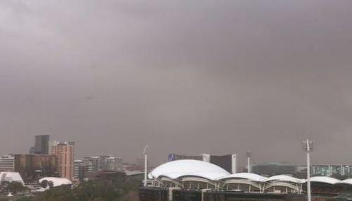 Adelaide dust storm polar blast