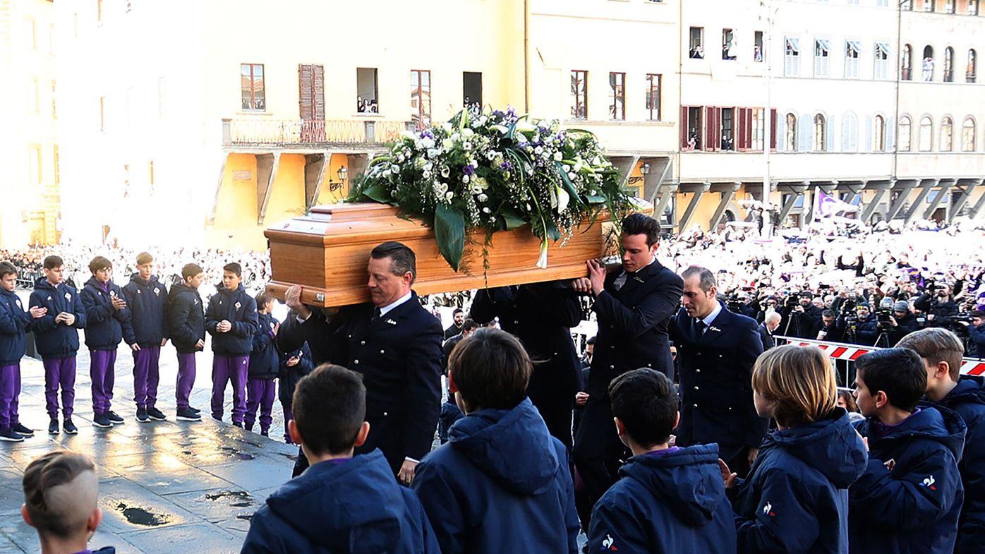 Thousands farewell Italy soccer ace Astori