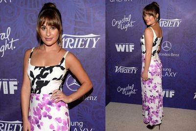 Lea Michele is desperate to make two-tone florals happen. <br/><br/>They're never going to happen.