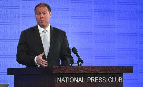 Mr Frydenberg addressed the National Press Club today. (AAP)