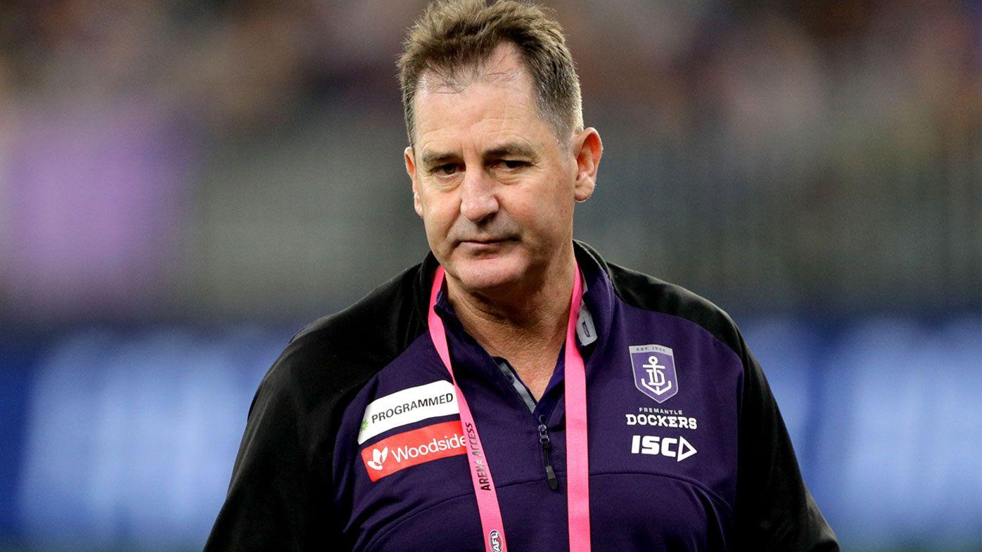 AFL: Ross Lyon shoots down Freemantle exit rumours and 'agendas'