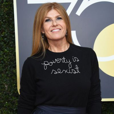 Nashville actress Connie Britton in Lingua Franca at the 2018 Golden Globes