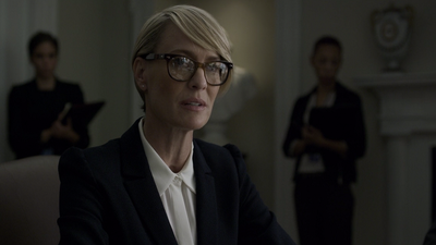 Claire Underwood is striving to be ambassador, with her husband's support, but shows a temper that leaves others questioning her suitability.
