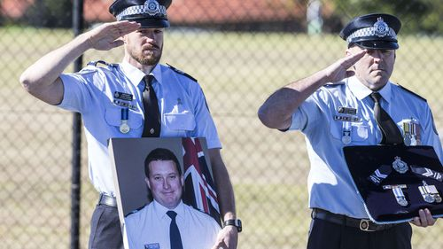 The late senior Constable Brett Forte was remembered in the awards list.