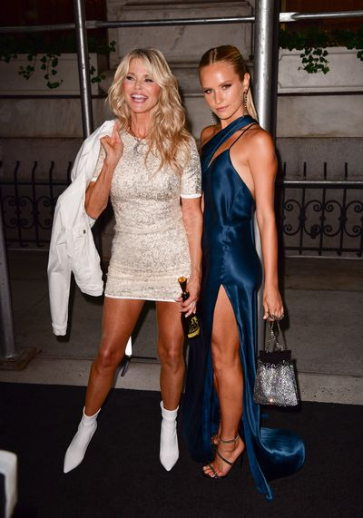 Christie Brinkley and Sailor Brinkley Cook at the Harper's BAZAAR Icons party in New York for NYFW, September 7, 2018