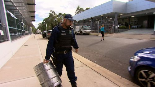 Police today tracked down the truck behind the loose keg. (9NEWS)