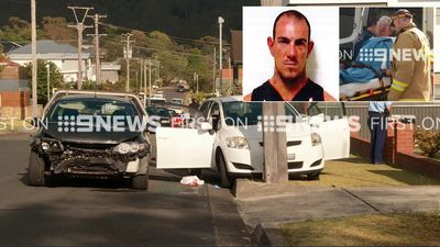 Manhunt after man assaults mum in stolen car rampage