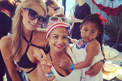 @parishilton: Lovely celebrating the 4th of July with my beautiful friend @ChristinaMilian & her adorable daughter Violet.