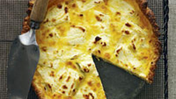 Goat's cheese and leek tart