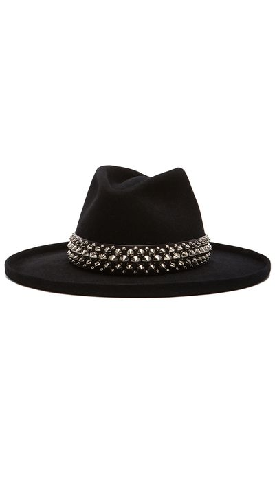 "<a href=""http://www.fwrd.com/product-gladys-tamez-millinery-the-johnny-hat-with-studded-band-in-black/GLAF-WH2/?srcType=plpaltimage&list=plp-list-1"" target=""_blank"">Johnny Hat With Studded Band, $580, Gladys Tamez Millinery</a>"