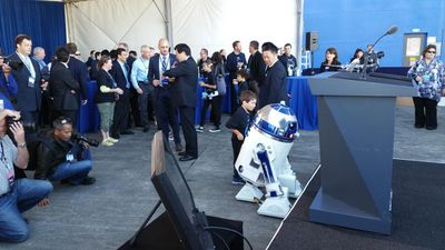 """""""At ANA we're always looking for ways to improve the flying experience for our passengers, and what better way to start your trip to Asia than on a one-of-a-kind Star Warsplane?"""" ANA spokeswoman Hideki Kunugi said. (Facebook)"""