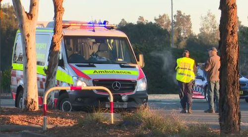 The two pedestrians were taken to Westmead hospital but one died a short time later. Image: 9News