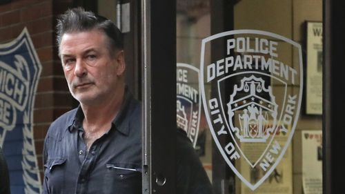 Actor Alec Baldwin walks out of the New York Police Department's 10th Precinct, after being arrested in early November.