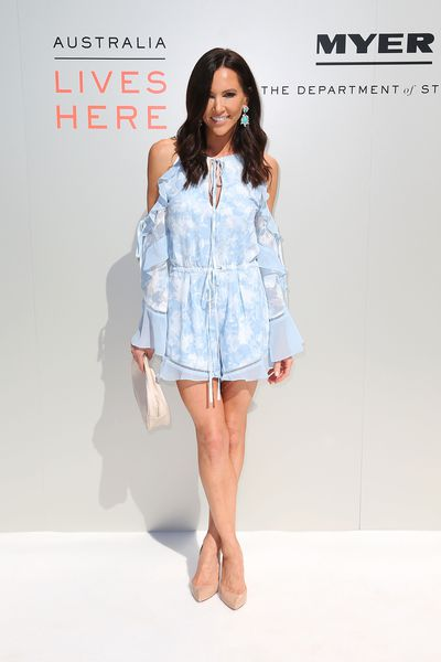 <p>Lose</p> <p>Kyly Clarke in We Are Kindred at the Myer season launch, Sydney</p> <p>Romper don't from this WAG who didn't bowl anyone over with this festival fare.</p>