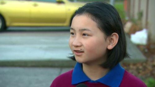 Kate Luong bravely called triple zero and hid while a man ransacked her Springvale home. Image: 9News