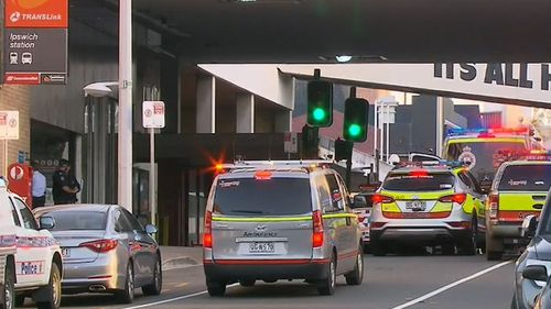 A man has been fatally shot at Ipswich railway station.