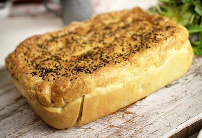 Re-pie-cled chicken and vegetable pie