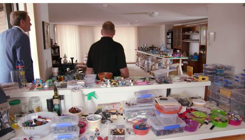 Mr Hughes has an entire home dedicated to the toy bricks.