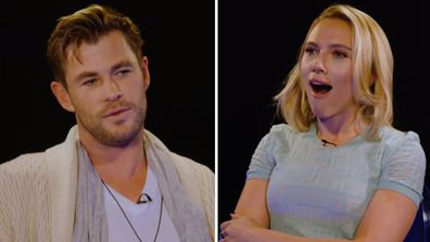Scarlett Johansson and Chris Hemsworth in Avengers: Endgame