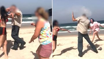 A woman has been charged with assaulting two rangers at Bribie Island.