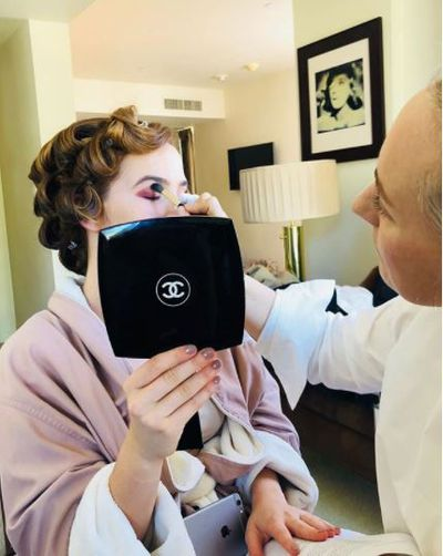 Actress Emma Stone gets her glam on courtesy of celebrity favourite Steph Stone.