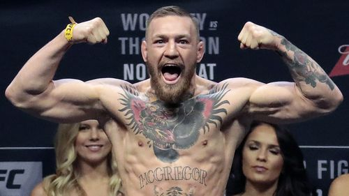 Conor McGregor has been charged with three counts of assault and one of criminal mischief over his rampage at a media event in Brooklyn. (AAP)