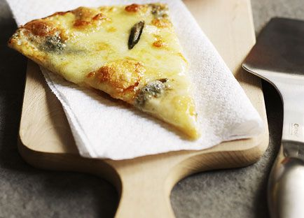 Four-cheese and sage pizza