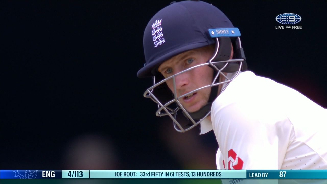 Root gets 50 dismissed next ball