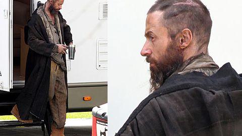 Hugh Jackman looks like crap: First pics from <i>Les Miserables</i> set