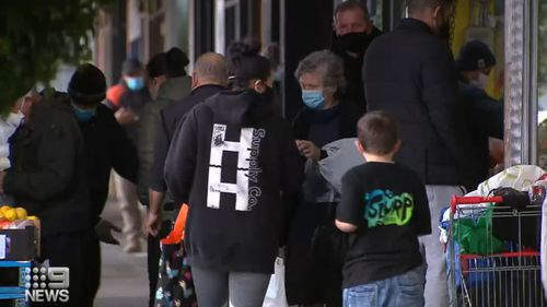 Shoppers in parts of Melbourne packed shops