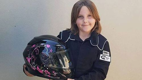 Anita Board suffered severe head and neck injuries in the crash at Perth Motorplex in Kwinana on November 11, 2017, just days after she had reached the minimum age to compete.