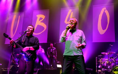 Duncan Campbell and Robin Campbell of UB40 perform live on stage at O2 Apollo Manchester on December 17, 2017 in Manchester, England.
