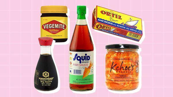 Salty ingredients as an alternative to salt