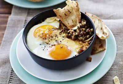 "Recipe: <a href=""http://kitchen.nine.com.au/2016/05/05/13/09/baghdad-eggs-with-quinoa"" target=""_top"">Baghdad eggs with quinoa</a>"